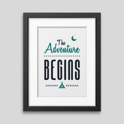 The adventure begins Framed...